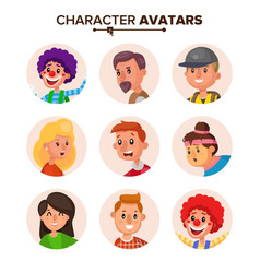 People characters avatars collection vector