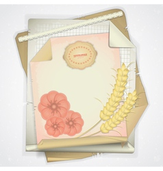 personal letter vector image