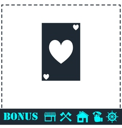 Playing card icon flat vector image