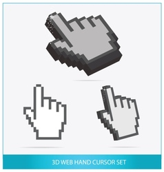 Web arrow hands symbols set isolated vector image vector image