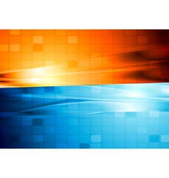 Blue and orange abstract tech design vector image vector image