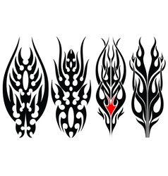 fire tripal tattoos vector image