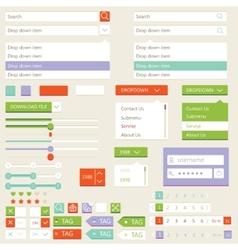 Flat elements design ui set vector image