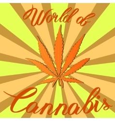 Marijuana hemp Cannabis sativa or Cannabis indica vector image