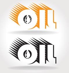 oil logo template vector image