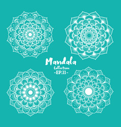 set of mandala decorative and ornamental design vector image vector image