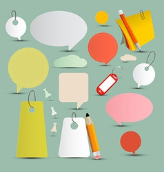 Objects and Labels Set vector image vector image