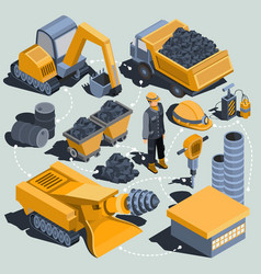 set of isometric isolated elements of the vector image vector image