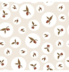 Vintage pattern with plums vector image vector image