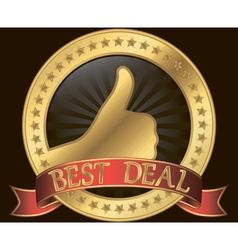 Best deal golden label vector image vector image