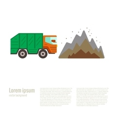 dump in flat style vector image