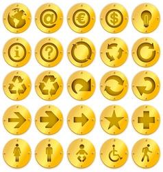 metal logo icons vector image