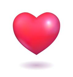 Pink heart vector image vector image