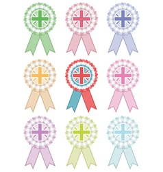 uk rosettes vector image vector image