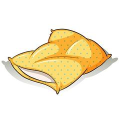 A yellow pillow vector