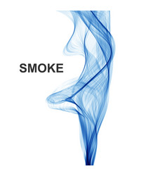 abstract blue waves background smoke vector image