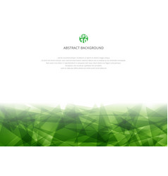 abstract green polygonal overlapping on white vector image