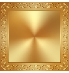 abstract metal gold frame with ornament vector image