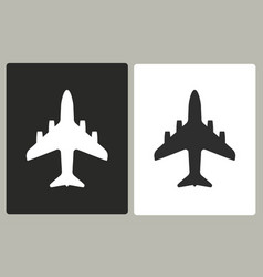 airplane - icon vector image