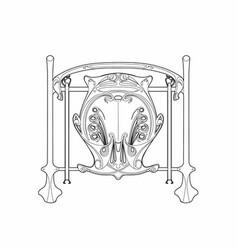 Art nouveau detail vector