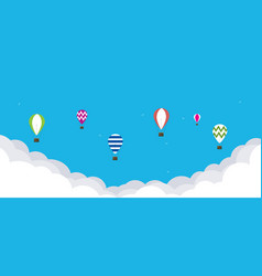baloons in the sky vector image vector image