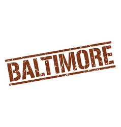 Baltimore brown square stamp vector
