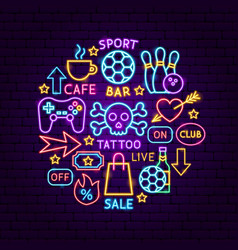 bar street neon concept vector image