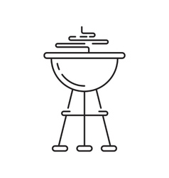Barbeque party icon vector