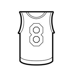 Basketball uniform shirt design vector