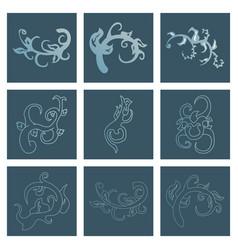Big floral set for spring design floral elements vector