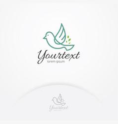 bird happiness logo design vector image
