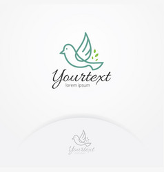 bird of happiness logo design vector image