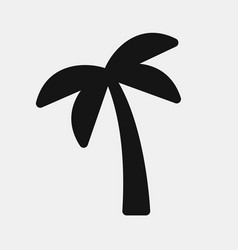 Black color palm icon vector