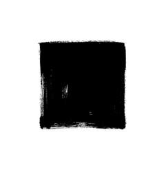 black rough edge square box vector image