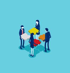business teamwork concept business vector image