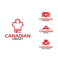 Canadian education library learning writer logo vector