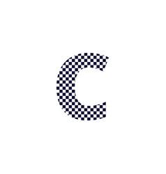Checker pattern logo letter c vector