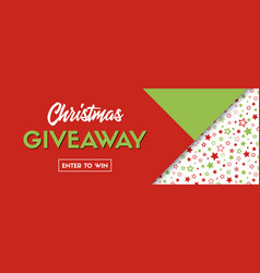 Christmas giveaway long banner for social vector