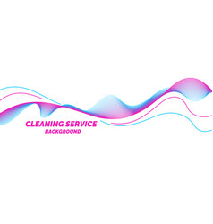 Conceptual poster for cleaning service on a white vector