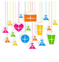 Creative colorful gift box pattern vector