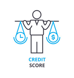 Credit score concept outline icon linear sign vector