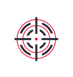 Crosshair sign on white vector