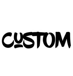 Custom stamp on white vector