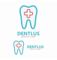Dental logo design template vector image
