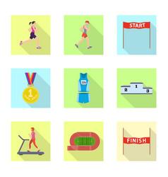 design sport and winner symbol set of vector image