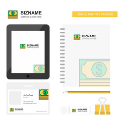 dollar business logo tab app diary pvc employee vector image