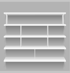empty store showcase vector image