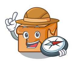 explorer caramel candies mascot cartoon vector image