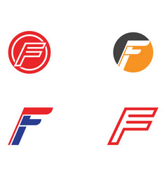f logo and symbols template icons vector image