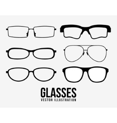 Fashion glasses object icon set vector